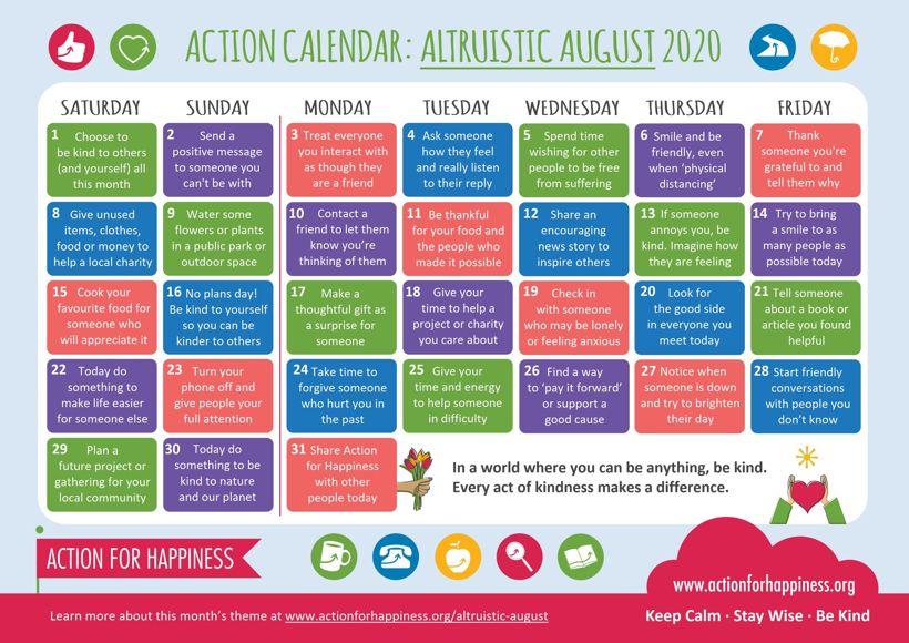 Action calendar